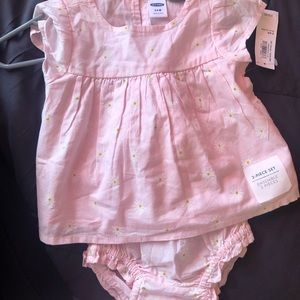 2piece set, dress and diaper cover NEW 3-6 months